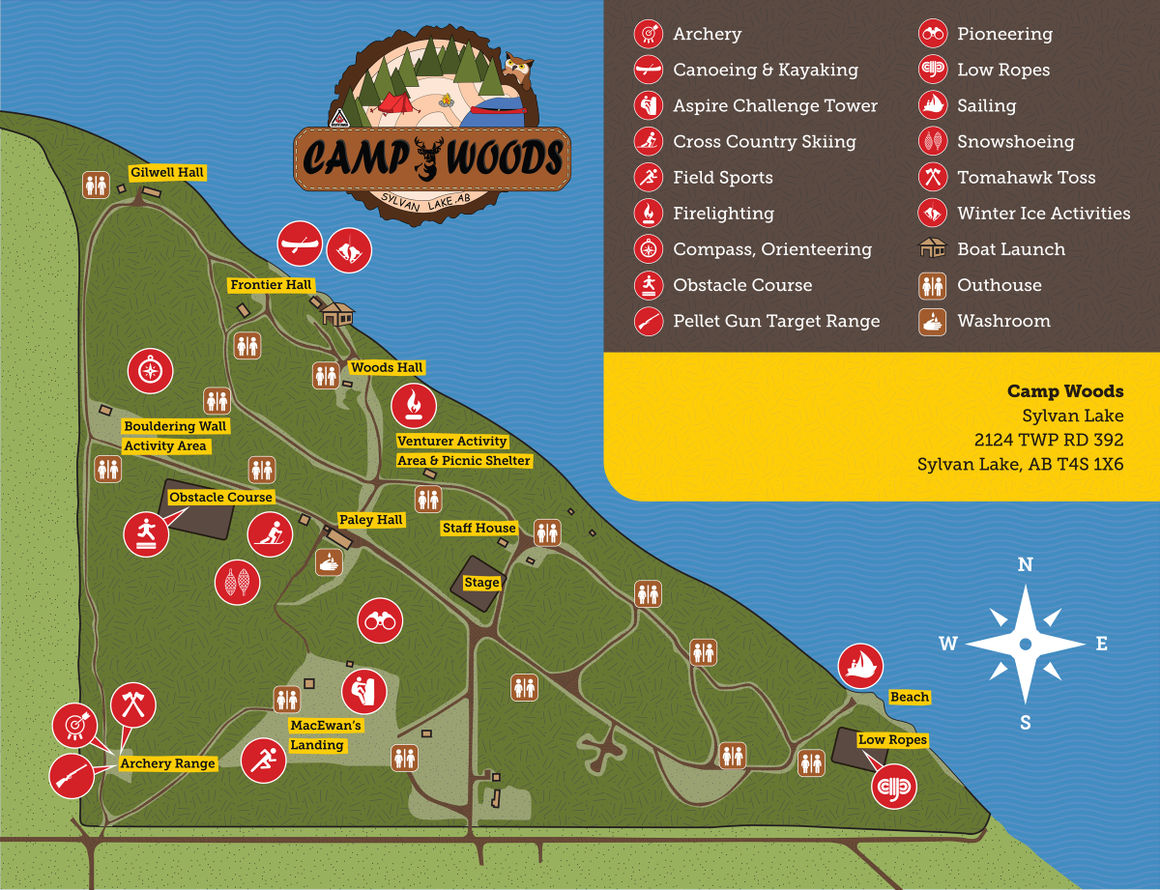 Scouts Canada Camp Woods Activities Map